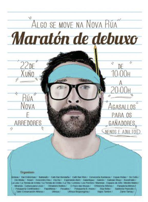 Maratón de Dibujo Libre Rúa Nova – 22 de Junio
